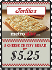 MetroDeal: 3 Cheese Cheesy Bread $5.25
