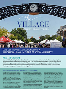 Join The Village in Their Application for Main Street Michigan Program