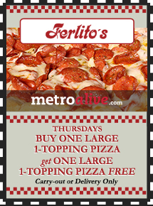 MetroDeal: Thursdays Buy One, Get One Large 1-Topping Pizza