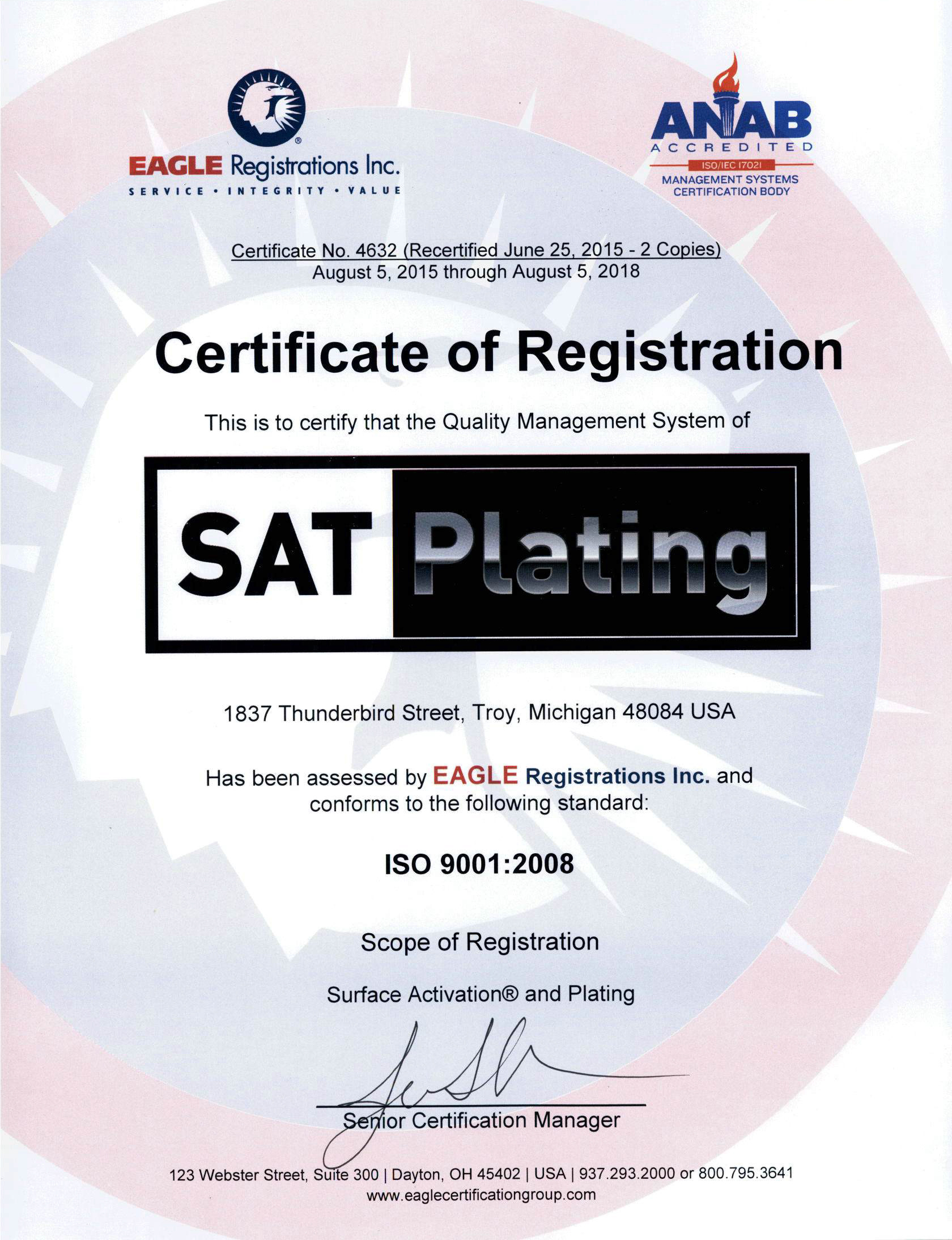 Sat plating iso certificate iso certificate 1betcityfo Choice Image